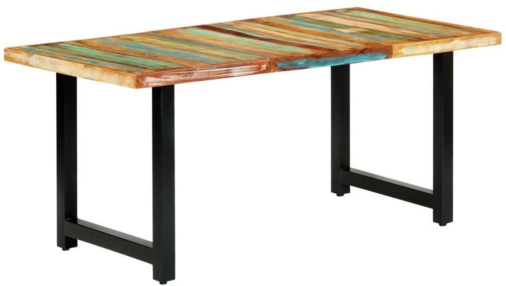 Stół z drewna odzyskanego Buzel 2X  wielokolorowy
