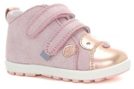 Bartek Baby Mini First Steps 61734 V06 trzewiki skórzane, dla dziewczynek róż złoty