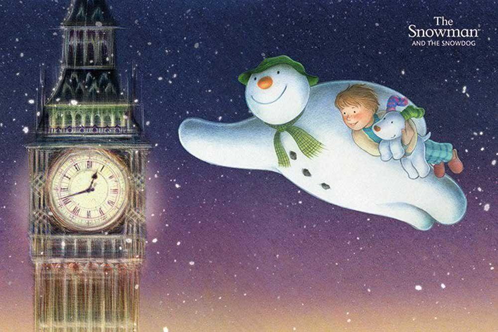 Empire Merchandising 633613 Snowman And The Snowdog, The Big Ben Film Movie Animation Film Boże Narodzenie Plakat Wymiary 91,5 x 61 cm