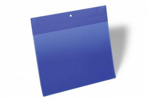 Kieszeń magazynowa magnetyczna neodymowa DURABLE 297x210 mm, pozioma, niebieska (10szt.) 174807