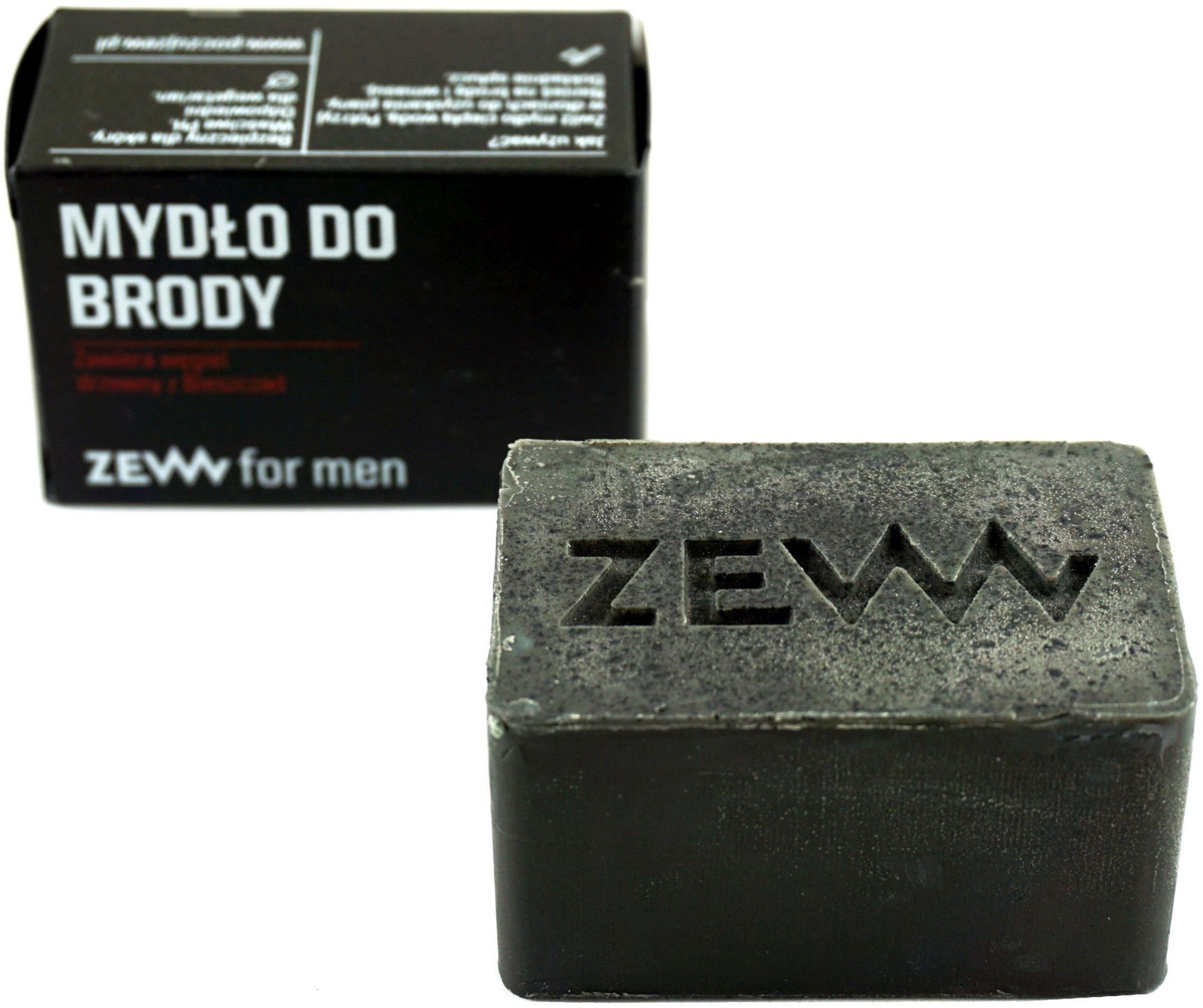 Naturalne mydło do brody z węglem drzewnym - 85ml - Zew