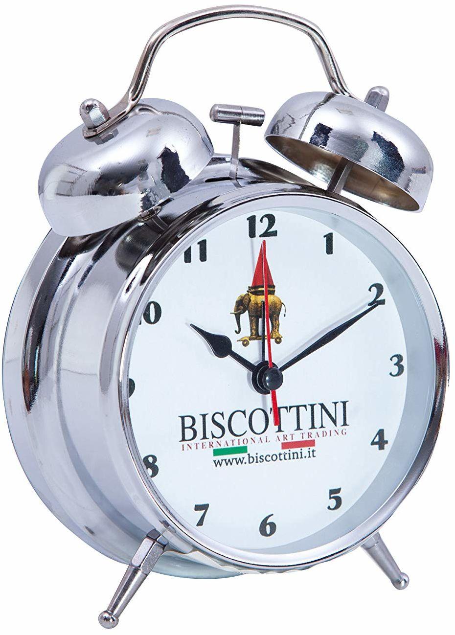 Biscottini budzik w stylu vintage z podwójnym dzwonkiem, dł. 10 x gł. 10 x wys. 15 cm