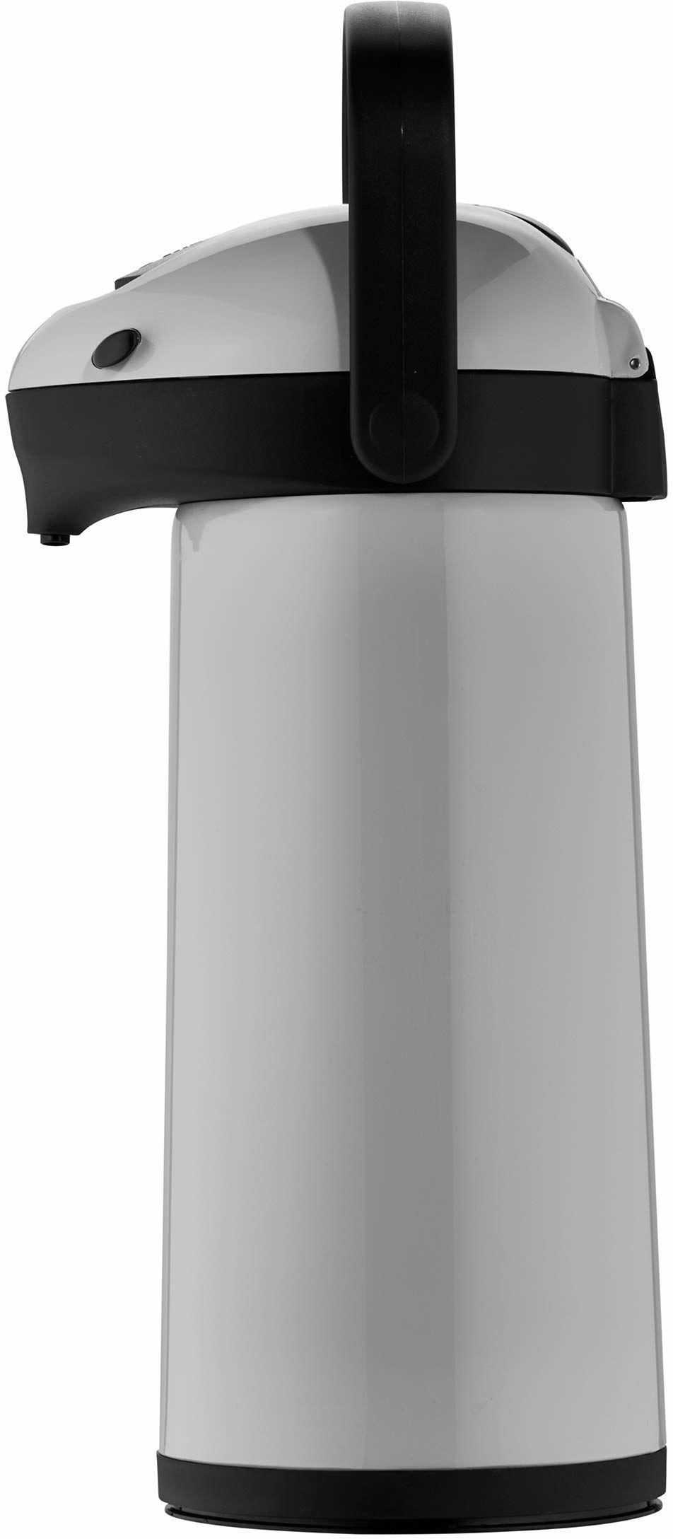 Helios Termos z pompką Airpot 1,9 l, tworzywo sztuczne, szary/czarny, obsługa jedną ręką
