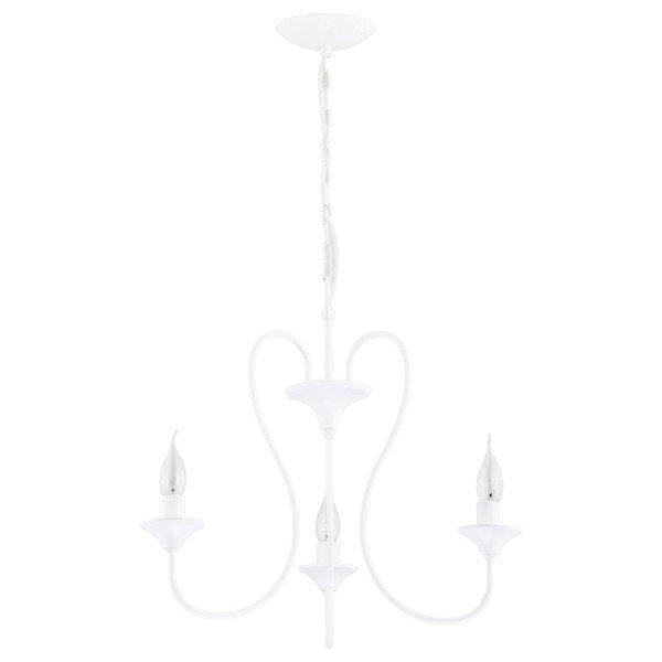 Żyrandol klasyczny świecznikowy UNITY śr. 50cm biały
