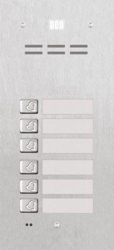 Domofon cyfrowy z czytnikiem breloków i 6 przyciskami FAM-P-6NPACC