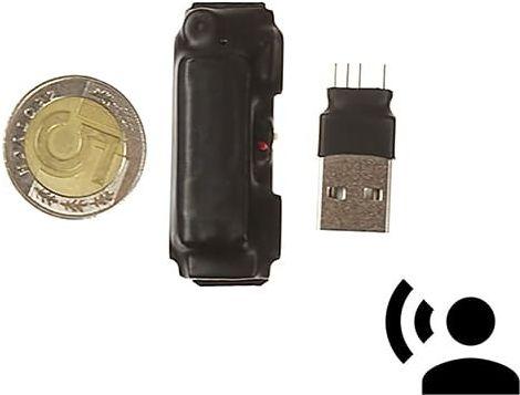 Mini Dyktafon szpiegowski do ukrycia MKX mini 8GB VOS 15h (Detekcja Głosu)