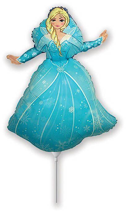Balon foliowy do patyka Frozen - Kraina lodu - 35 cm - 1 szt