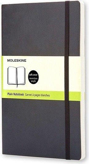 Notes moleskine w miękkiej oprawie kieszonkowy czarny gładki