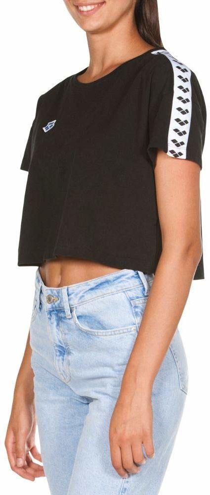 ARENA Damska koszulka Arena Icons Corinne Team T-shirt czarny czarno-biało-czarny M