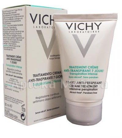 Vichy Deodorant kremowy antyperspirant do wszystkich rodzajów skóry 30 ml + do każdego zamówienia upominek.