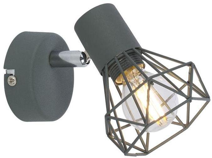 VERVE LAMPA KINKIET 1X40W E14 MATOWY SZARY