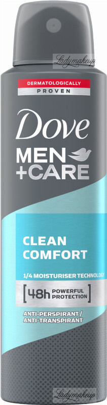 Dove - Men+Care Clean Comfort 48H Anti-Perspirant - Antyperspirant w aerozolu dla mężczyzn - 150 ml