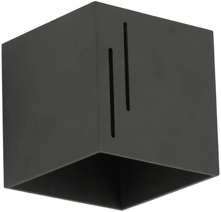 Lampex Quado MODERN B 692/B CZA kinkiet lampa ścienna czarna nowoczesna kwadrat 1x40W G9 10cm
