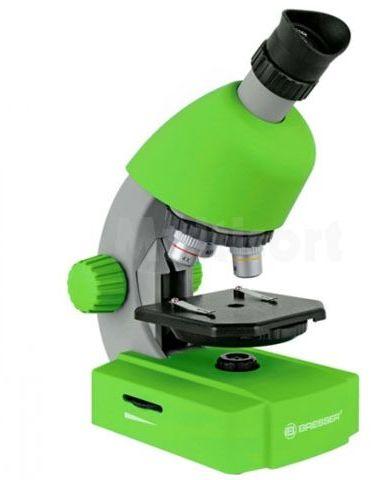 Mikroskop Bresser 40x-640x Junior zielony