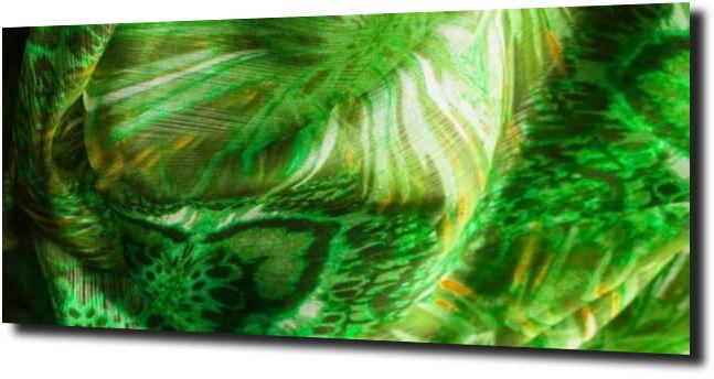 obraz na szkle Abstrakcja zielona 97