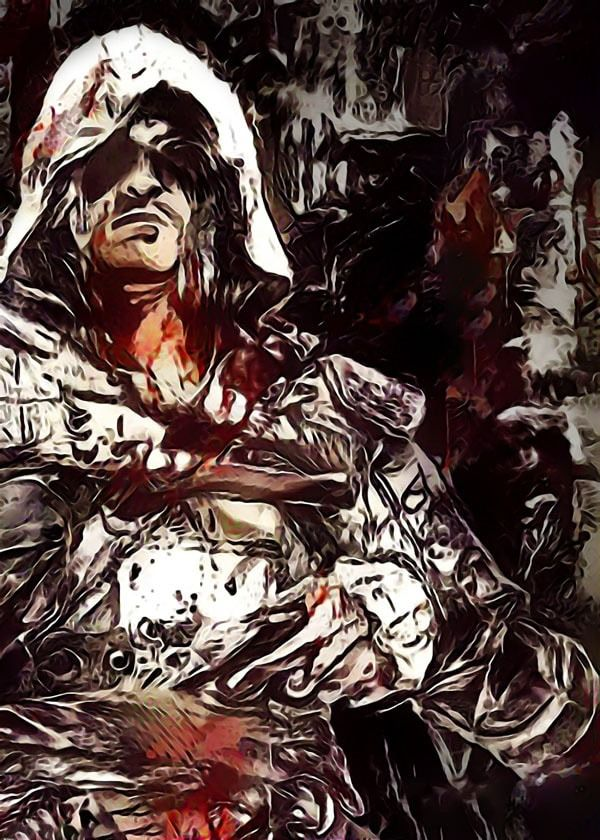 Legends of bedlam - edward kenway, assassins creed - plakat wymiar do wyboru: 50x70 cm