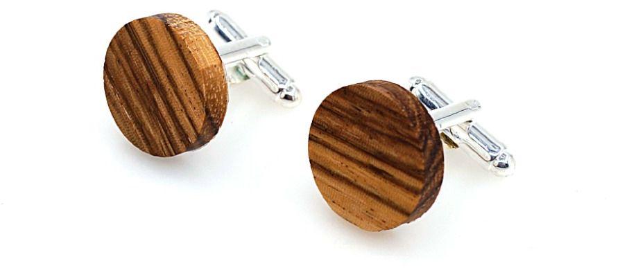 Drewniane spinki do mankietów WT1