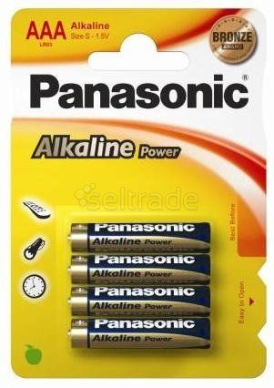 Panasonic Power Alkaline LR03 AAA 4 sztuki