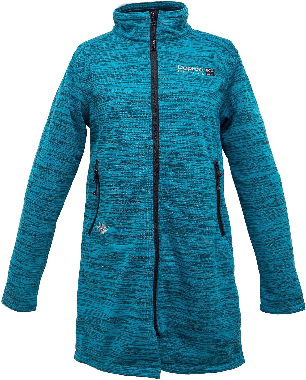 Deproc Active damska kamizelka z dzianiny polarowej płaszcz Elmsdale długi, Carribean Blue, 54349-345-40 EU