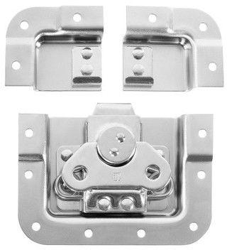 Adam Hall Hardware SPLIT-LID - Zamek motylkowy, krótki, zagięty, głębokość: 14 mm, podzielna obudowa