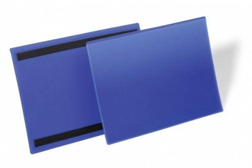 Kieszeń magazynowa magnetyczna DURABLE 297x210mm pozioma niebieska (50szt.) 174507
