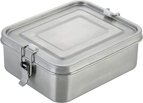 axentia Pojemnik na kanapki ze stali nierdzewnej, srebrny, ok. 16,5 x 5,5 x 14 cm