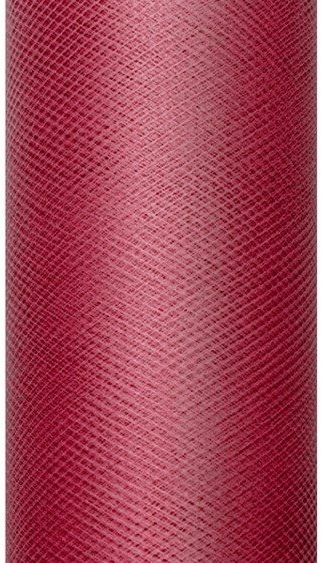 Tiul dekoracyjny bordowy 30cm x 9m 1 rolka TIU30-082
