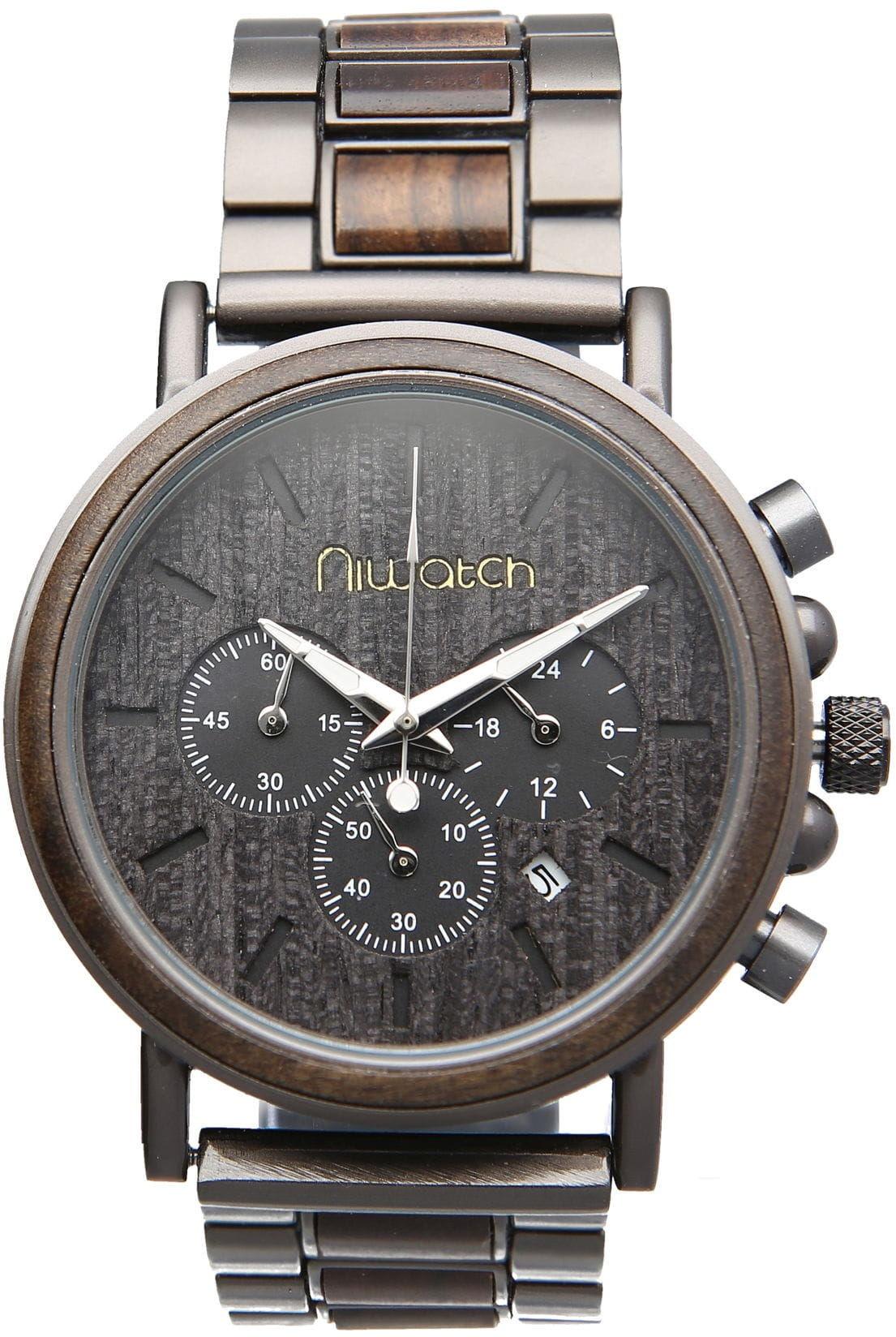 Zegarek drewniany Niwatch - kolekcja ROYAL - CHACATE PRETO
