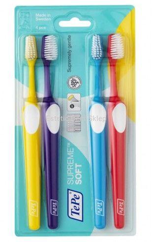 TePe Supreme soft - miękkie szczoteczki do zębów 3 + 1 gratis