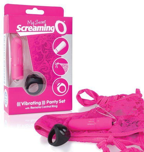 Zdalnie sterowany wibrator do majteczek - The Screaming O Remote Control Panty Vibe Pink