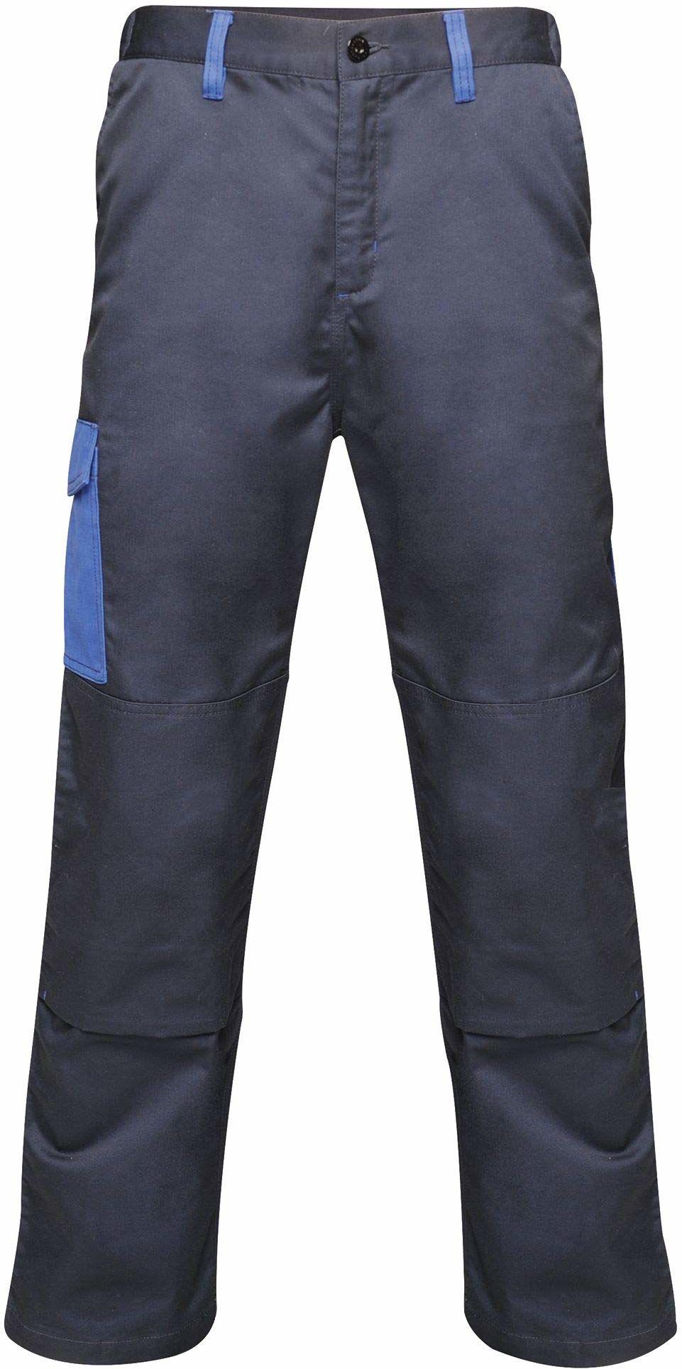 """Regatta męskie profesjonalne kontrastowe wytrzymałe spodnie cargo potrójnie szyte wodoodporne spodnie Navy/New Royal Size: 32"""""""