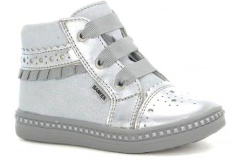 Bartek buty 51846/ 12D trzewiki, półbuciki dziewczęce srebrne