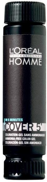 Loreal Homme Cover''5 5 jasny brąz, odsiwiacz bez amoniaku 50ml