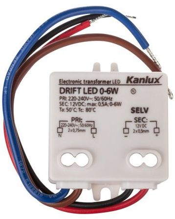 Zasilacz LED 12V DRIFT LED 0-6W 18040