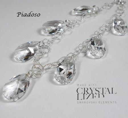 Swarovski Elegancka Bransoletka SREBRO Crystal