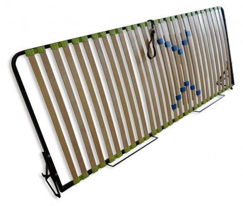 Podnoszony bocznie stelaż do łóżka z regulacją części lędźwiowej