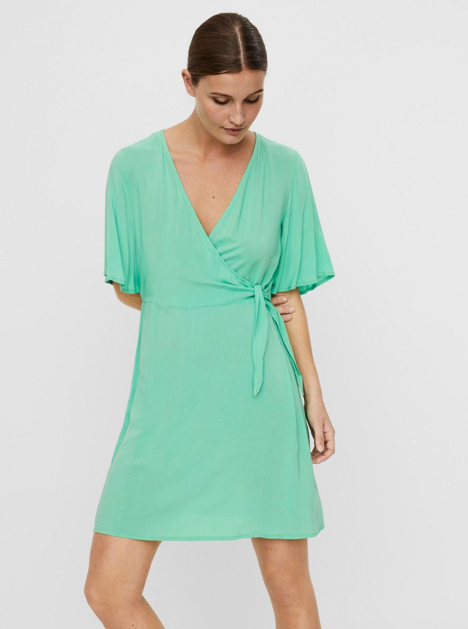 Vero Moda zielony sukienka Ibina