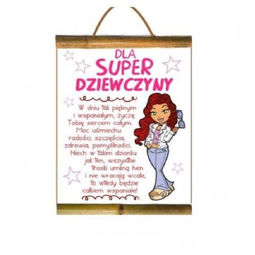 Dyplom dla Super Dziewczyny