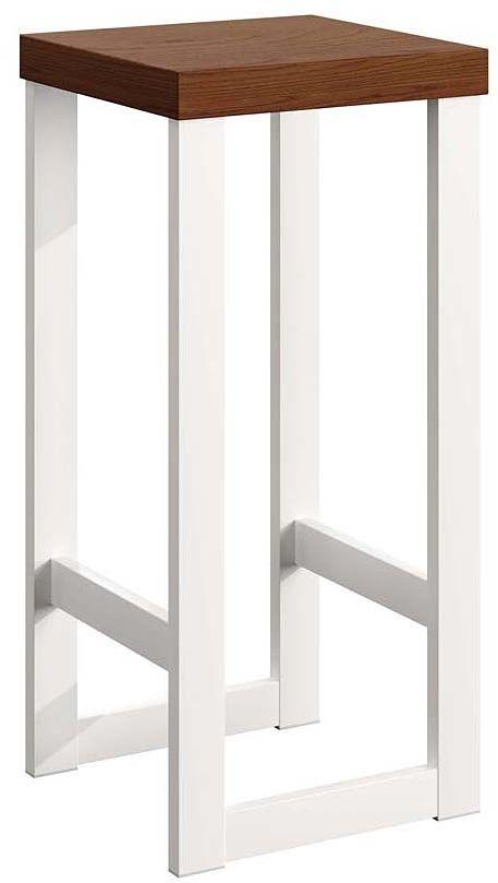 Biały loftowy hoker Pedros 3X - 4 kolory