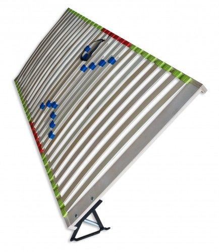 Podnoszony bocznie regulowany drewniany stelaż do łóżka
