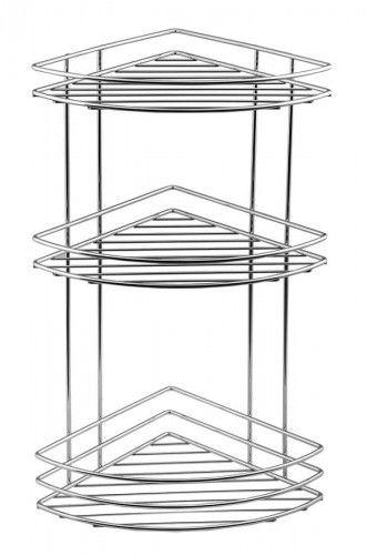 CHROM LINE półka druciana potrójna narożna, 20x48,5x20 cm chrom