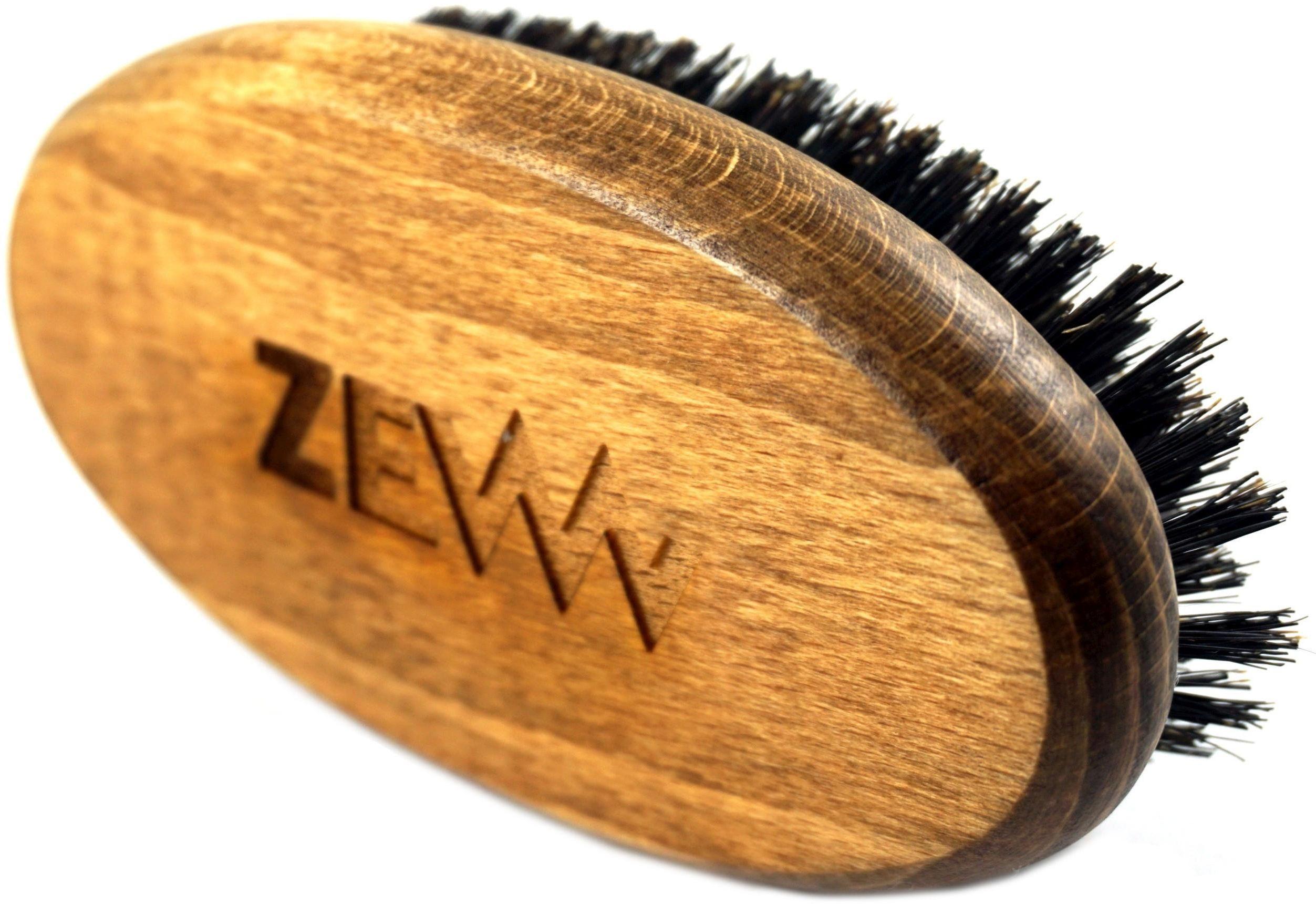 Szczotka / Kartacz do brody z naturalnym włosiem z dzika - Zew
