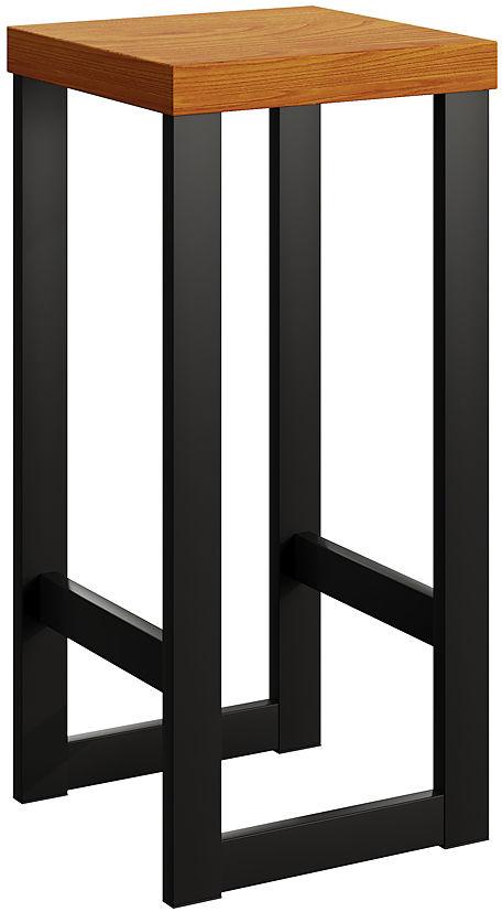 Czarny drewniany hoker Pedros 3X - 4 kolory