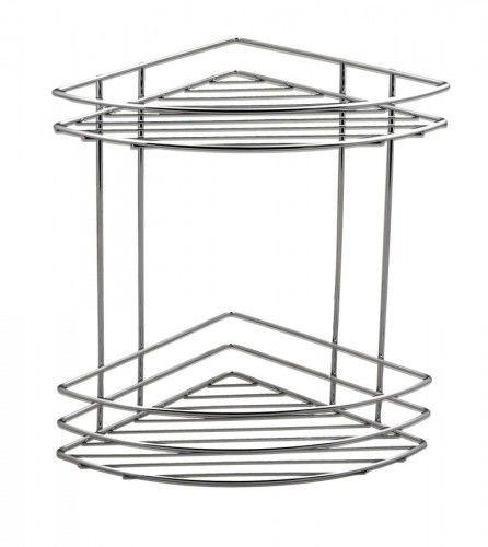 CHROM LINE półka druciana podwójna narożna, 20x31x20 cm chrom