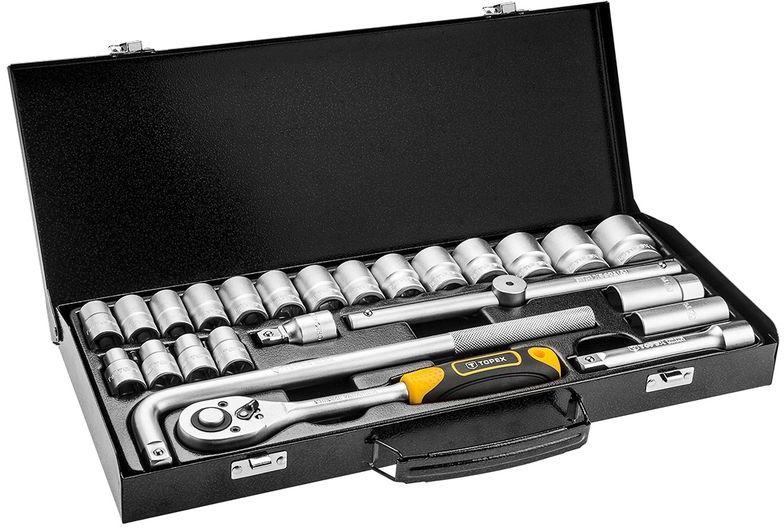 Klucze nasadowe 1/2cala metalowa walizka zestaw 25 elementów 38D850