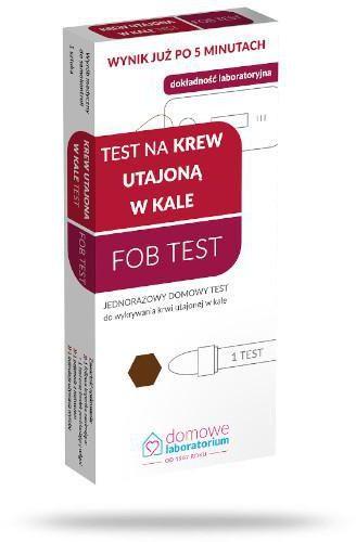 Domowe Laboratorium Test na krew utajoną w kale Fob Test 1 sztuka