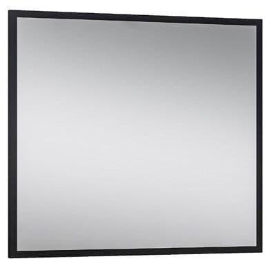 CZARNE lustro 80x70 cm metalowe, MODUS LOFT