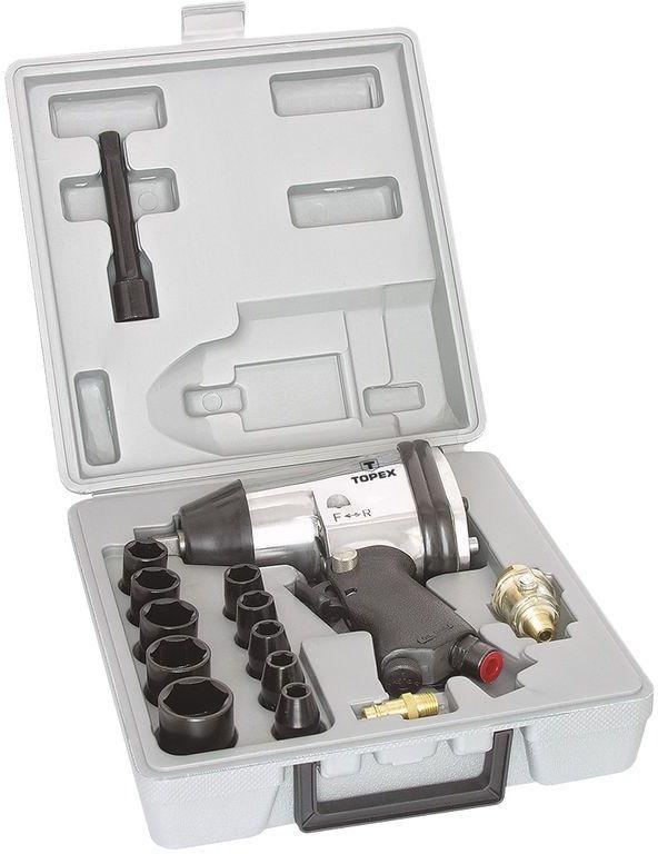 Klucz udarowy pneumatyczny 1/2cala 314Nm zestaw z nasadkami 74L002