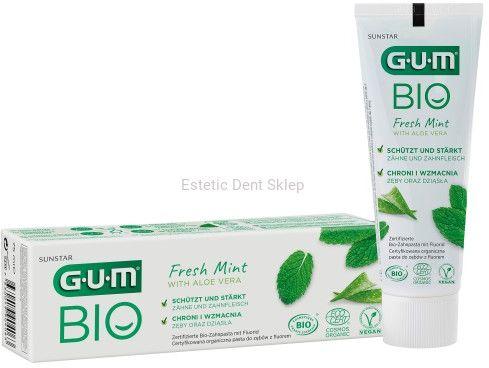 Sunstar GUM BIO - ekologiczna pasta do zębów z wyciągiem z aloesu i mięty pieprzowej 75 ml