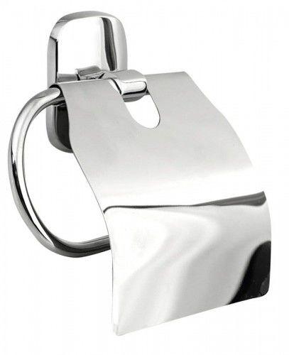 RUMBA wieszak na papier toaletowy z klapką chrom
